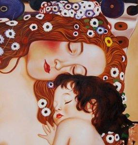 mother&child gustav klimt