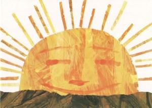 Bu yazıya bir güneş gerekiyordu. Hem de en güzelinden. Benim için olabilecek en güzel güneş Eric Carle 'ın aç tırtıldaki güneşidir.